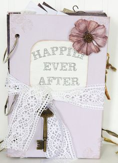 """Lavender """"Happily Ever After"""" Fairytale Wedding Guest Book.  $100"""