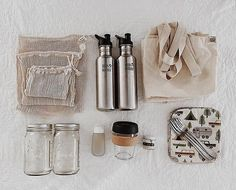 Couple's Travel Zero Waste Kit | The mason jars are to store compost until they can dispose of it appropriately #zerowaste #bettertogether #environmentalism