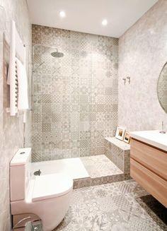 30 ideas para combinar tus muebles de baño de estilo actual · 30 ideas to combine your bathroom furniture Bathroom Toilets, Bathroom Renos, Laundry In Bathroom, Bathroom Layout, Bathroom Interior Design, Small Bathroom, Master Bathroom, Bathroom Ideas, Minimal Bathroom