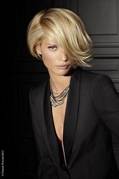 Short Hair | Side Swept Volume #blonde #haircut #sexy #pmtswichita #paul #Mitchell #schools