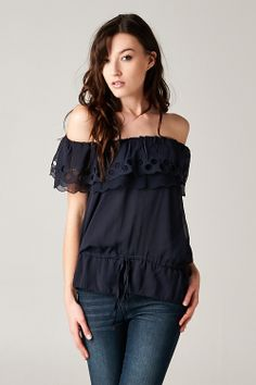 Sadie Top in Navy