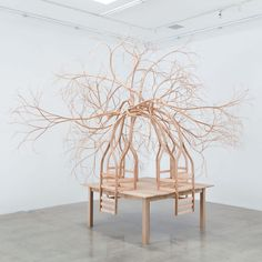 Wooden Furniture Sculpted by Pontus Willfors Sprouts Unwieldy Roots and Limbs