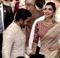 Inside Isha Ambani's wedding: Mukesh Ambani gets emotional, Deepika Padukone-Ranveer Singh's pics are a riot Silk Saree Blouse Designs, Fancy Blouse Designs, Blouse Neck Designs, Desi Wedding Dresses, Indian Wedding Outfits, Indian Outfits, Saree Wedding, Wedding Bride, Dream Wedding