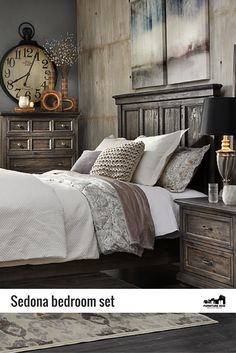 Bring antiqued elegance to your bedroom with the rich for Bedroom expressions