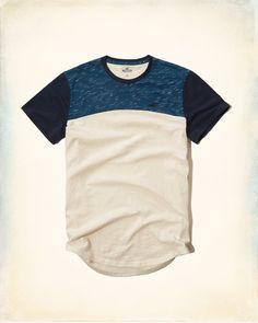 Guys Textured Colorblock Tee | Guys Tops | HollisterCo.com