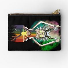 'Peace among worlds - Rick & Morty (TM) ' Zipper Pouch by MonoMano Unique Bags, Rick And Morty, Gifts For Family, Zipper Pouch, Pouches, Cat Lovers, My Arts, Geek Stuff, Vibrant