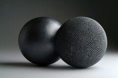 David Huycke, Kissing Spheres #2, 2006, sterling silver granulation