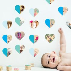 Hearts Abound: 16 Photo Wall Stickers from Paper Culture