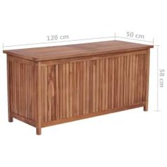 vidaXL Putekasse 120x50x58 cm heltre teak Furniture, Outdoor Decor, Teak, Storage Box, Outdoor Furniture, Home Decor, Outdoor Storage Box, Outdoor Storage, Storage