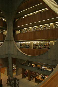 A 113 años del nacimiento de Louis Kahn | Biblioteca de la Academia Phillips Exeter| #arquitecto #arquitectura