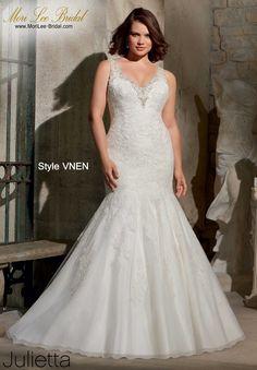 e85b95be83da Mori Lee Bridal Store Tienda Online de Vestidos de Novias. Plus Size GownsV  NeckDeepSwarovski CrystalsWhite Wedding ...