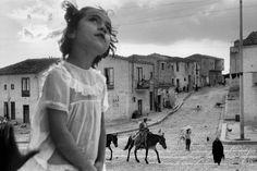 Sergio Larrain. ITALY. Sicily. Corleone main street. 1959