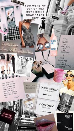 26 Fashion Collage Backgrounds For Your Phone - BLONDIE IN THE CITY