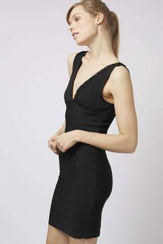Studded Contouring Bandage Dress - Topshop