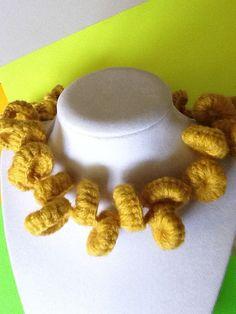 Bold Double Loop Handmade Crochet Necklace by joywelry2love, $26.00