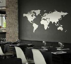 Wereldkaart muur