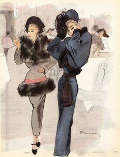 Mourgue 1947 Balmain & Paquin furs