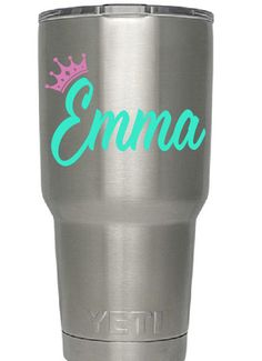 Your place to buy and sell all things handmade Engraving Ideas, Yeti Decals, Insulated Tumblers, Custom Decals, Cups, Cricut, Monogram, Silhouette, Drinks