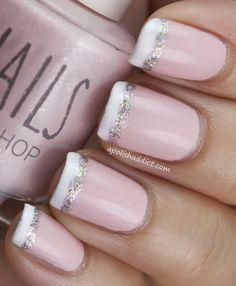 Like the glitter stripe on French manicure