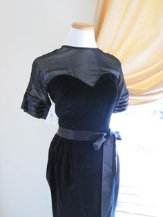 Vintage Designer Little Black Cocktail Dress by abigailgraceshop