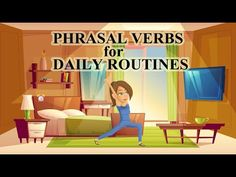 Learn how to talk about daily routines using some of the most common phrasal verbs. English Time, English Class, English Lessons, English Grammar, Learn English, English Language, Conversation Topics, Conversation Starters, Listen And Speak