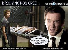 Brody no lo puede creer.... #Dexter #Homeland.