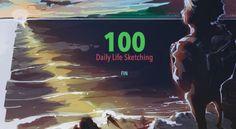 Daily Life Sketching ✕ 100 by Wajimito