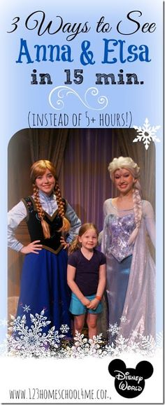 Disney! 3 Ways to See Anna & Elsa at Disney World in 15 minutes instead of over 5 hours! Plus lots of more Disney World tips and tricks for planning a magical family vacation