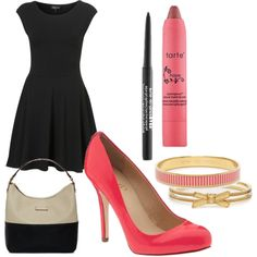 """Little Black Dress with a Pink Twist"" by leilacjacob on Polyvore"