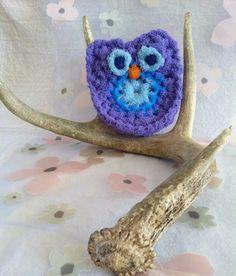 Owl Nylon Pot scrubber Dish Scrubber,  Doubled Layered Crocheted Nylon Netting Veggie Scrubbie, Lavender/Blue, Gift For Her $3.00  #Etsy #EtsyRMP