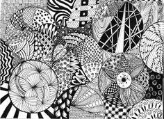 zentangle doodle by flybye669.deviantart.com on @deviantART