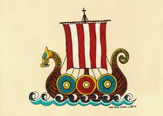 Hey, I found this really awesome Etsy listing at https://www.etsy.com/listing/156795398/viking-ship-scandinavian-dragon-ship
