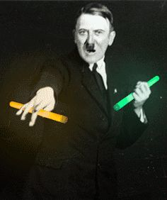 "Adolf Hitler throwing a few ""shapes"""