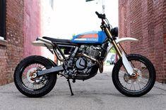 Suzuki DR 650 Scrambler par Parr Motorcycles – Belles Machines Triumph Scrambler, Triumph Motorcycles, Scrambler Custom, Custom Motorcycles, Custom Bikes, Custom Baggers, Vintage Motorcycles, Tracker Motorcycle, Motorcycle Men