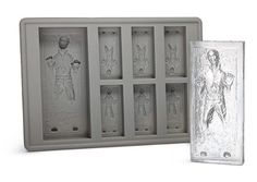 Han Solo in Carbonite ice cube tray. @Barbara Cory and @Renae Ross Cory this would be a perfect gift for Chris.
