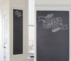 How to turn a full length mirror into a chalkboard for the kitchen