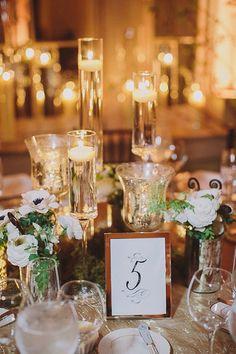 Greenery and candle centerpiece #wedding #weddingideas #weddings #aislesociety #eventdesign #engaged #vintageweddings