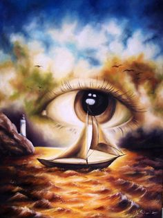 Surrealism. The imagination combines both the physical and emotional.
