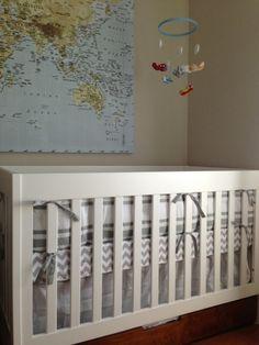 baby boy vintage airplane/travel nursery