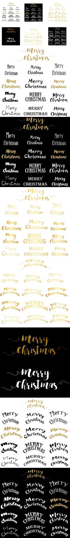 Merry Christmas Lettering. Script Fonts. $5.00