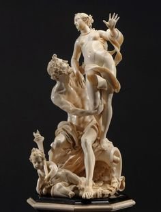 """Pluto and Proserpina"" by Matthias Steinl (1643/44–1727), an Imperial Court sculptor in Vienna and considered one of the greatest ivory sculptors in history. (Blumka Gallery and Kunsthandlung Julius Böhler)"
