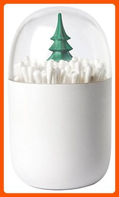 Qualy Winter Time Cotton Bud Holder, Unusual Home Decor, Centerpiece of any Bathroom or Bedroom, Unique Cotton Buds Dispenser - Fun stuff and gift ideas (*Amazon Partner-Link)