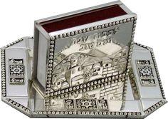 #Judaica #Shabbat #Holiday #Match #Box #Holder And #Tray Nickel Plate #Jerusalem View