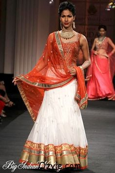 Red-and-White-Wedding-Lehenga