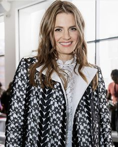 Stana Katic attends the Bibhu Mohapatra fashion show at New York Fashion Week - The Shows at Gallery II at Spring Studios on Feb 2020 in New York City Ski Fashion, Fashion Games, New York Fashion, Fashion Show, Rhona Mitra, Bibhu Mohapatra, Spring Studios, Kate Beckett, Stana Katic