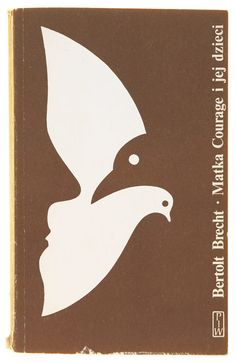 Bertolt Brecht - Matka Courage. Polish book cover from the 1970s and 80s by Witold Gombrowicz.