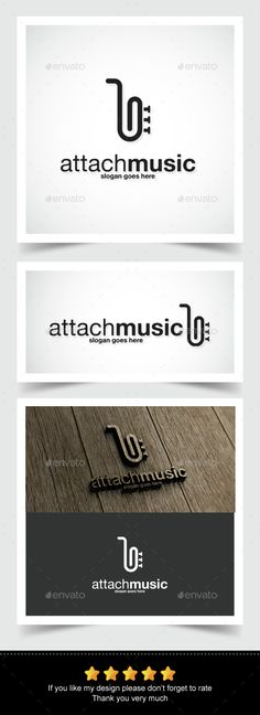 Attach Music Logo by mangga Attach Music Logo: - 100 Re-sizable vector - 100 Editable text - Easily customizable colors - AI & EPS documents Used Fonts Logo Design Template, Logo Templates, Logo Inspiration, Logos, Logo Branding, Music Theme Birthday, Therapy Quotes, Music Logo, Music Humor