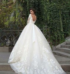How Dreamy Is This Delicate Lace Ballgown By Millanova Official