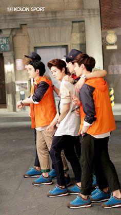 Kris, D.O, Luhan, Chanyeol, Lay - Kolon Sport #EXO
