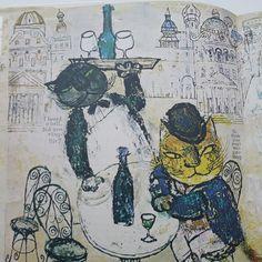 Ilustraciones de Martin y Alice  Provensen para las fabulas de Esopo en la versión de Louis Untermeyer.   Vistas en Roddy
